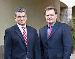 Dr. Mark-Andre Freyberg, Vorstand der CytoTools AG (rechts) und Dr. Dirk Kaiser (links)