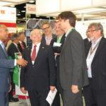 Massachusetts Governor Deval Patrick im Gespräch mit