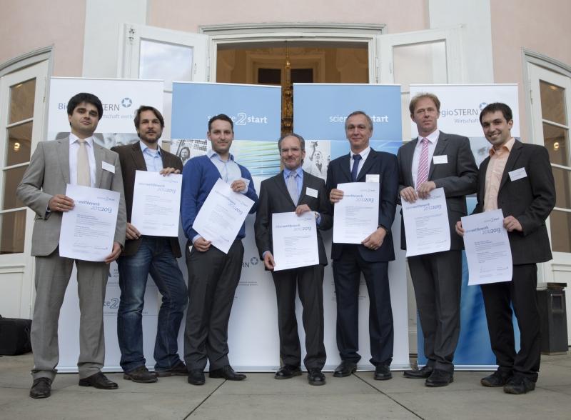 Die diesjährigen Preisträger des Science2Start-Wettbewerbs.