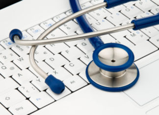 Stethoscope on Computer