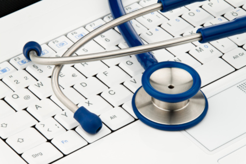 Stethoscope on Computer