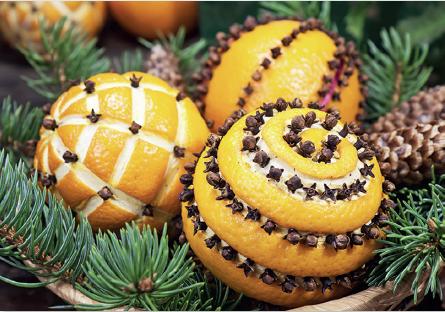 Duftende Gewürznelken-Orangen