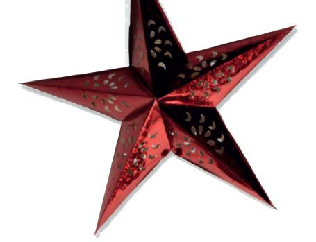 Origami Stern in 3D ausgeschnitten