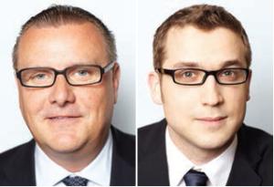 Matthias Poth, Managing Partner von Hering Schuppener Consulting in Frankfurt und Sebastian Mewißen, Associate Director im Kapitalmarktteam am Standort Düsseldorf