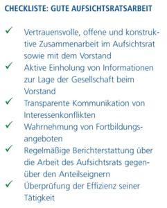 Checkliste 2: Gute Aufsichtsratarbeit