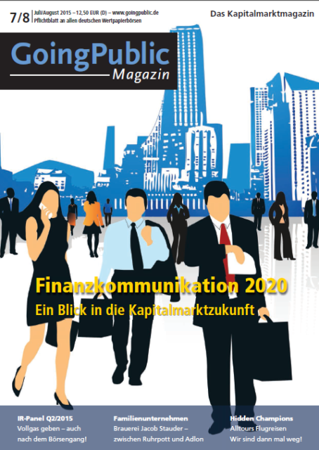 GoingPublic Magazin 7-8/2015