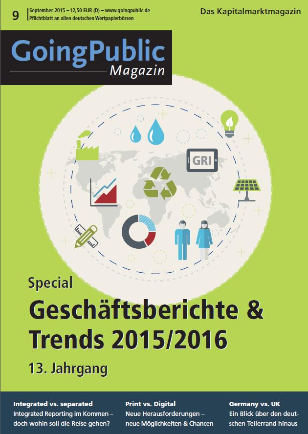 Goingpublic Magazin Special Geschaftsberichte Trends 2015 2016