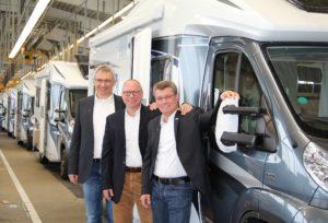 Knaus-Tabbert-Geschäftsführer (v.l.n.r.): Werner Vaterl, Wolfgang Speck und Gerd Adamietzki