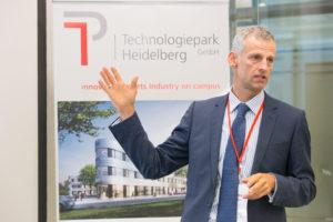 """André Domin: """"Medizinische Entwicklungen sind ohne spezielle Software und intelligente Informatik undenkbar."""" Technologiepark Heidelberg"""