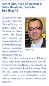 Patrick Kiss zur MAR