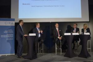 In der ersten Panelrunde wurde lebhaft über die Erfolgsfaktoren im Job debattiert. Foto: C.I.R.A./APA-Fotoservice/Bargad