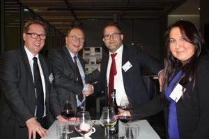 Zeit fürs Netzwerken: Peter List (GoingPublic), Horst Mantay (MSW) und Niki N. Demirbilek (DUAL Deutschland).