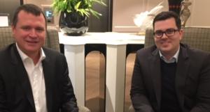 Mag. Michael Quatember (Vorstand) und Mag. Klaus Fahrnberger (IR-Manager) von bet-at-home während eines Pressetermins.