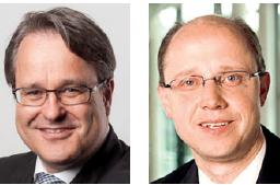 Dr. Martin Steinbach ( Head of IPO und Listing Service, EY) und Ralf Geisler (Transaction Accounting Leader, EMEIA, und Partner, EY)