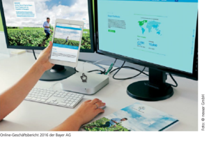Online-Geschäftsbericht 2016 der Bayer AG. Foto: nexxar GmbH.