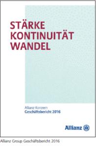 Allianz Group Geschäftsbericht 2016.