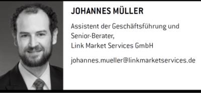 Johannes Müller <br> Assistent der Geschäftsführung und Senior-Berater,<br> Link Market Services GmbH