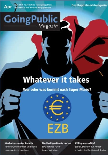 Public Magazin April 2019: Whatever it takes - Wer oder was kommt nach Super Mario?